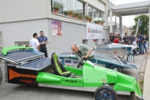 Student solar cars exhibition in Sisak, Croatia, June 2016
