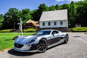Rimac Concept One in Smiljani, Croatia, birthplace of Nikola Tesla, June 2016